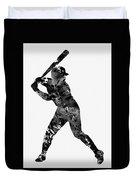 Baseball Player Duvet Cover