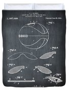 Basketball Patent 1916 Black Duvet Cover