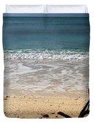 Beach At Grand Turk Duvet Cover