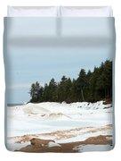 Beach Of Ice Duvet Cover