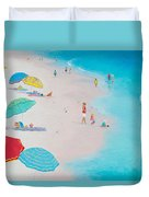 Beach Painting - One Summer Duvet Cover