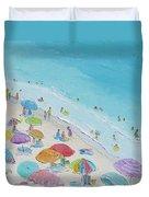 Beach Painting - Summer Love Duvet Cover