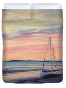 Beached At Sunset Duvet Cover