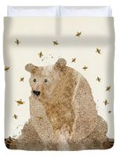 Bear Grizzly  Duvet Cover