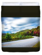 Beautiful Autumn Landscape In North Carolina Mountains Duvet Cover