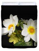 Beautiful Autumn White Flowers Duvet Cover