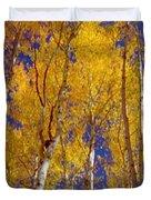 Beautiful Fall Season Nature Renews Itself  Theme Green Trees Reaching For The Sky  Save The Environ Duvet Cover