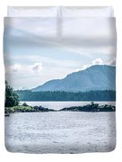 Beautiful Landscape In Alaska Mountains  Duvet Cover