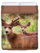 Beautiful Mule Deer Herd Duvet Cover