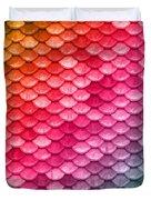 Beautiful Pastel Diagonal Rainbow Spectrum II Mermaid Fish Scales Duvet Cover