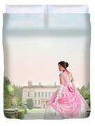 Beautiful Victorian Woman In The Garden Duvet Cover