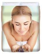 Beautiful Woman At Spa Salon Duvet Cover