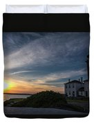 Beavertail Lighthouse Duvet Cover