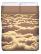 Bed Of Puffy Clouds Duvet Cover
