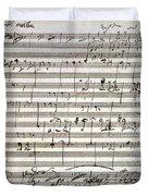 Beethoven Manuscript Duvet Cover