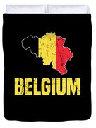 Belgium Flag Apparel Duvet Cover