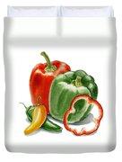 Bell Peppers Jalapeno Duvet Cover