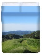 Bend In The Trail Duvet Cover