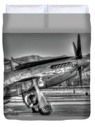 Betty Jane P51d Mustang At Livermomre Duvet Cover