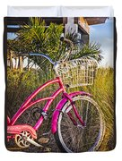 Bicycle At The Beach II Duvet Cover