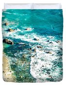 Big Sur California Coastline On Pacific Ocean Duvet Cover