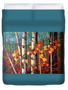Birch And Maple Duvet Cover
