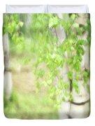 Birch In Spring Duvet Cover