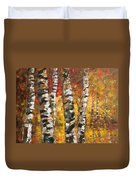 Birch Trees In Golden Fall Duvet Cover