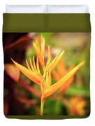 Bird Of Paradise Plant In The Garden. Duvet Cover