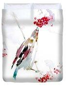 Bird Painting Duvet Cover