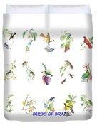 Birds Of Brazil Duvet Cover