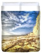 Birling Gap And Seven Sisters Art Duvet Cover