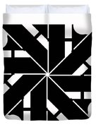Black And White Geometric Duvet Cover