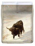 Black Beast Wanderer Duvet Cover by Joseph Denovan Adam