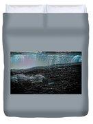 Black Niagara Duvet Cover by Richard Ricci