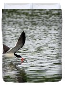 Black Skimmer Fishing Duvet Cover