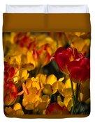 Blazing Tulips Duvet Cover