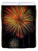 Blooming Fireworks Duvet Cover