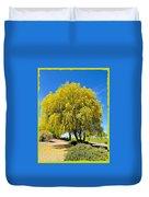 Blooming Palo Verde Duvet Cover