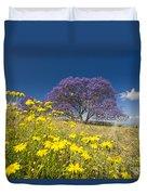 Blossoming Jacaranda Duvet Cover