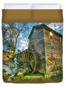 Blowing Cave Mill Near Smoky Mountains Of East Tennessee Duvet Cover