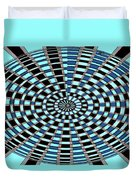 Blue And Black Abstract Duvet Cover