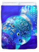 Blue Beads 2 Duvet Cover