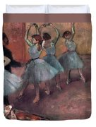 Blue Dancers Duvet Cover by Edgar Degas