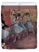 Blue Dancers Duvet Cover by Edgar Degas