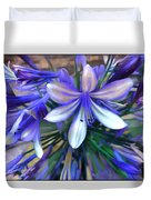 Blue Flowers  Duvet Cover