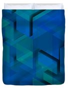 Blue Geometric Composition 1 Duvet Cover