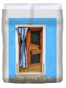 Blue In Burano Duvet Cover