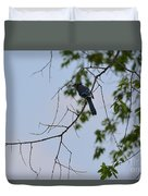 Blue Jay In Tree Duvet Cover