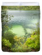 Blue Lake Stradbroke Island Duvet Cover